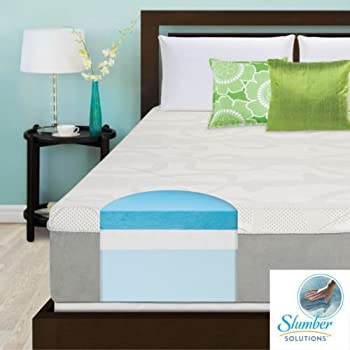 slumber solutions 14 inch queensize gel memory foam mattress medium firm