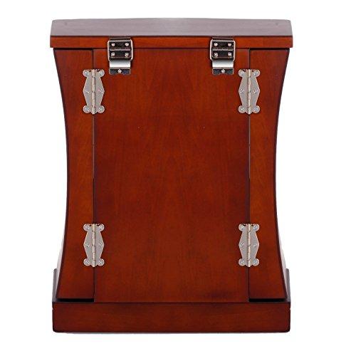 ROWLING Schmuckkoffer Holz Schmuckkasten Schmuckschrank moderner Holz Schmuckbox -