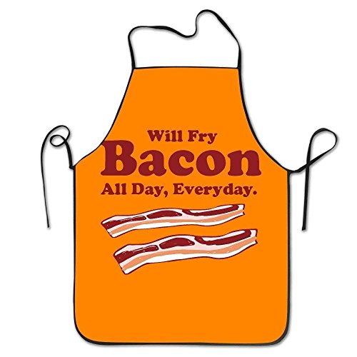 Amkong Unisex Will Fry Bacon All Day Everyday Apron for Wome