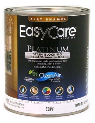 True Value ECPFT-QT EasyCare Platinum Paint Primer with Stain Blocker 1-Quart Tint Base Interior Flat Enamel