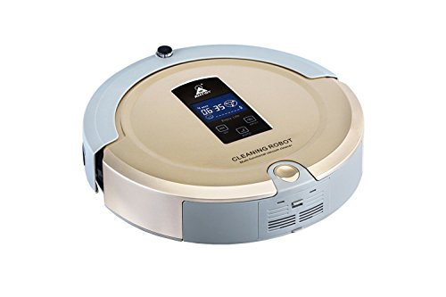 Amtidy A325 Intelligent Robotic Vacuum Cleaner Sweep, Vacuum, Dry Mopping and Sanitize (Light Golden)