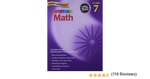 Math Worksheets free printable math worksheets 5th grade : Amazon.com: Spectrum Math, Grade 7 (9780769636979): Thomas ...