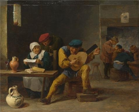 Peasant Villager Costumes (Perfect Effect Canvas ,the Imitations Art DecorativeCanvas Prints Of Oil Painting 'David Teniers The Younger - Peasants Making Music In An Inn,probably 1640-5', 20x25 Inch / 51x63 Cm Is Best For Wall Art Gallery Art And Home Gallery Art And Gifts)