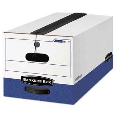 Liberty Plus Storage Box, Letter, String/Button, White/Blue, 12/Carton, Sold as 12 Each (Liberty Box Plus Storage)