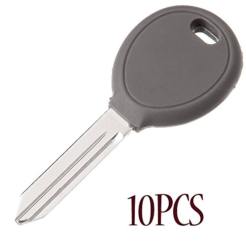 ECCPP 10X Transponder Chip Uncut Ignition Key Blank Replacement for Y164 ()