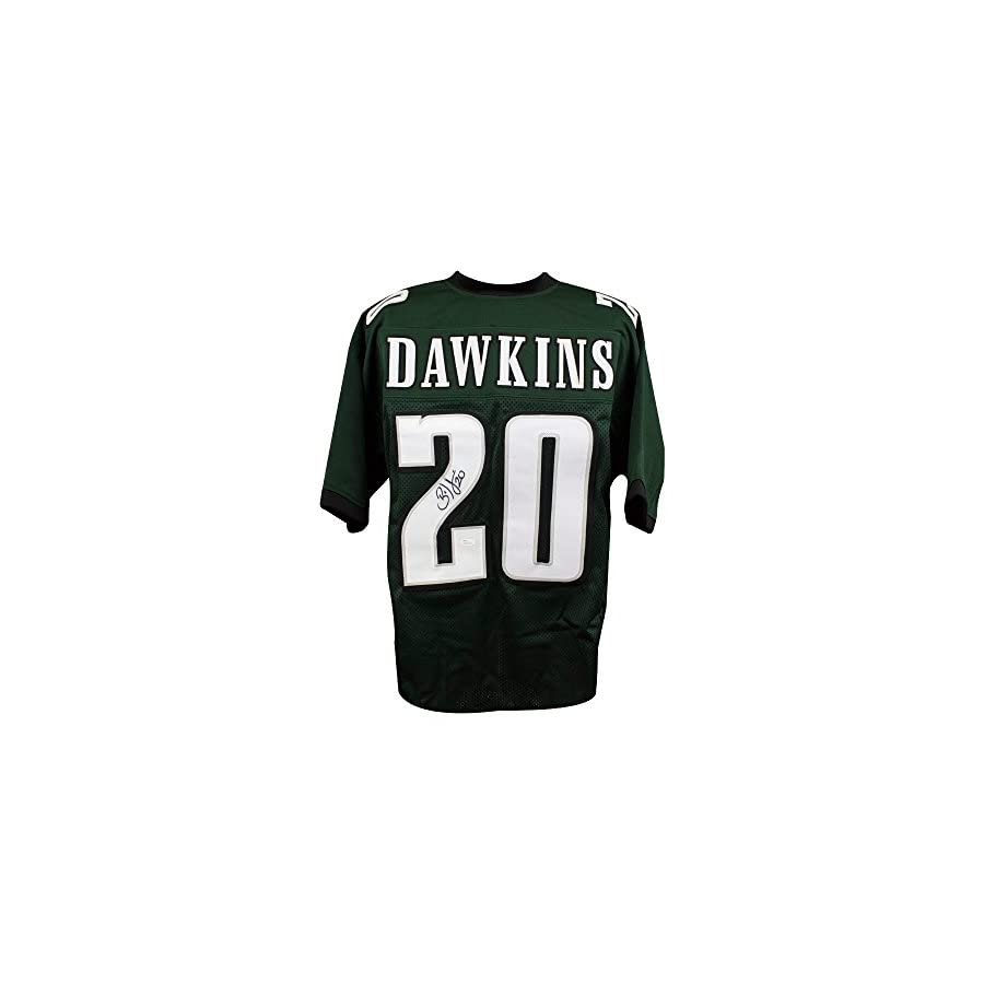 Brian Dawkins Autographed Philadelphia Eagles Custom Green Football Jersey JSA