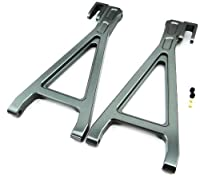 Atomik RC Alloy Rear Lower Arm, Grey fits the Traxxas 1/10 E-Revo and Other Traxxas Models - Replaces Traxxas Part 5333/5333R
