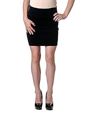 Stretch Simple Cotton Mini Skirt Minijoup Basic Plain Skirt