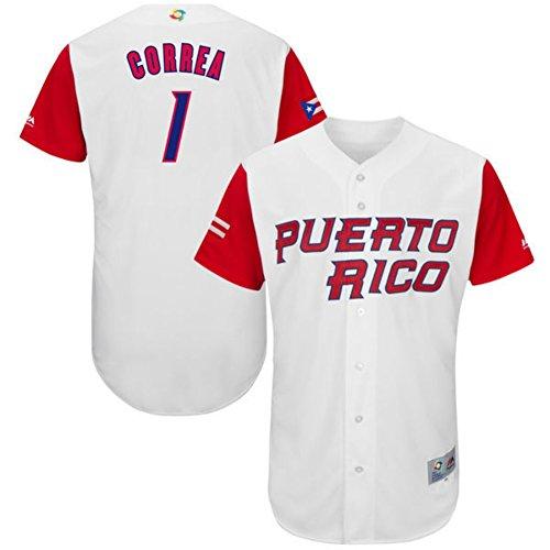 Authentic Baseball Jersey (Men's Carlos Correa Jersey 2017 World Baseball Classic Jerseys Authentic White L )