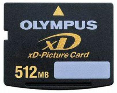 OLYMPUS Carte XD Picture Card (XD) Nand Carte Mé moire Flash 512 Mo M-XD512H Carte mémoire