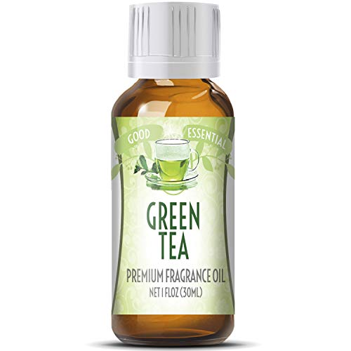 Green Tea Scented Candle - Green Tea Scented Oil by Good Essential (Huge 1oz Bottle - Premium Grade Fragrance Oil) - Perfect for Aromatherapy, Soaps, Candles, Slime, Lotions, and More!