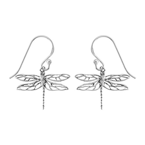Boma Jewelry Sterling Silver Dragonfly Dangle Earrings