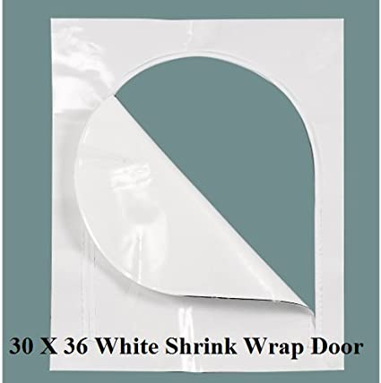 "Boat Shrink Wrap Zipper Access Door 30/"" X 48/"" Clear Marine"