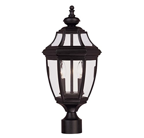 Savoy House 5-497-BK Two Light Post Lantern -