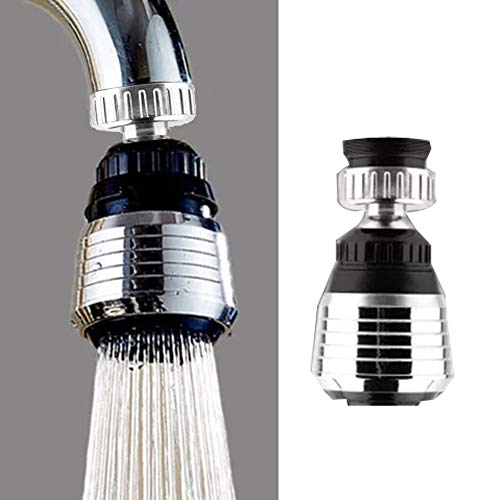 (360 Rotate Swivel Water Saving Tap Aerator Diffuser Faucet Nozzle Filter Adapter)