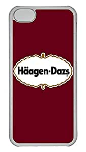 5C Case, iPhone 5C Case, Personalized Hard PC Clear Shoockproof Protective Case Cover for New Apple iPhone 5C - Haagen Dazs Red