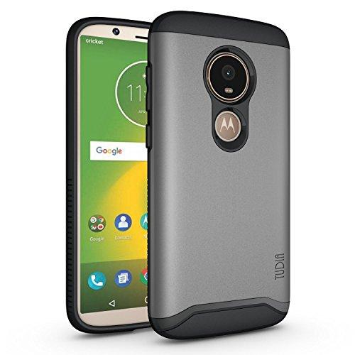 Moto E5 Play Case, TUDIA Slim-Fit Heavy Duty [Merge] Extreme Protection/Rugged but Slim Dual Layer Case for Motorola Moto E5 Play (Metallic Slate)