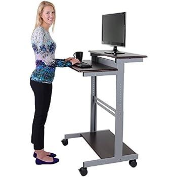 Amazon Com 32 Quot Mobile Ergonomic Stand Up Desk Computer