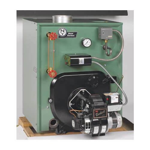 CL3-140 89,000 BTU Output, Cast Iron Steam Boiler w/Tankless Coil (Packaged) -  Caleffi, SUH-CL3-140-ST-MBB