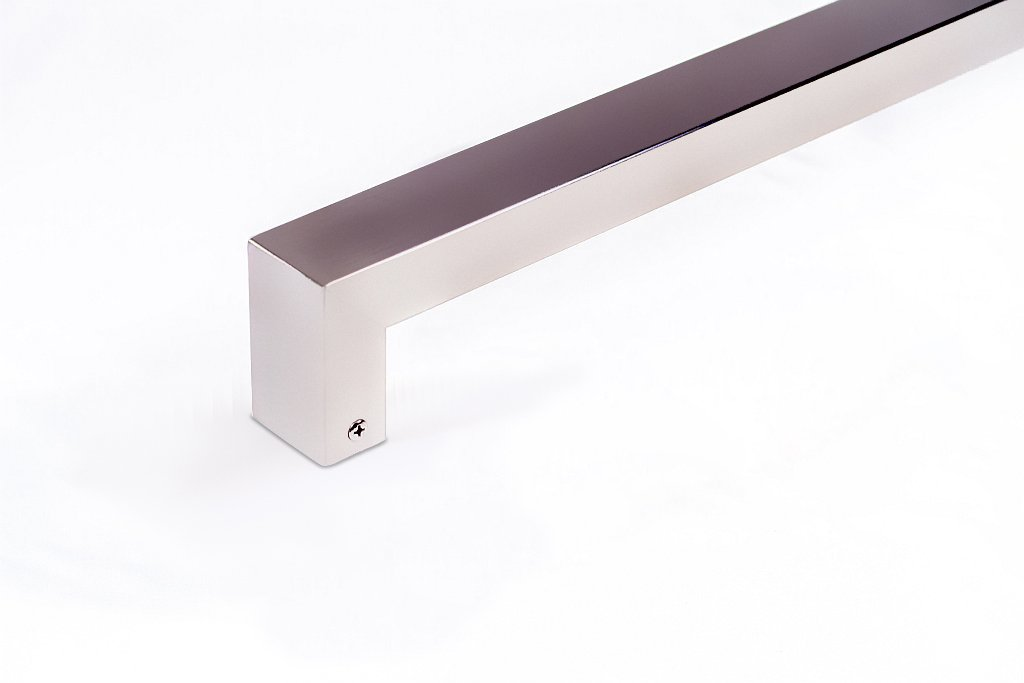 Modern Contemporary 16 inches Square Rectangle Flat Shape Stainless-Steel Door Handle Pull Shower Glass Barn Entry Exterior Interior Gate Entrance Sliding Towel Bar Cabinet Satin Nickel Brushed Finish by KeyTiger Door Pulls & Handles (Image #1)