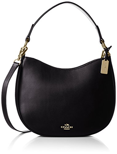 Coach Leather Women's Nomad Gold Light Black Crossbody Bag prpA5Ox