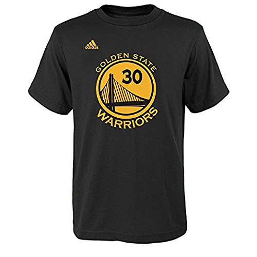 adidas Stephen Curry Youth Golden State Warriors Black Name and Number Jersey T-Shirt X-Large 18-20