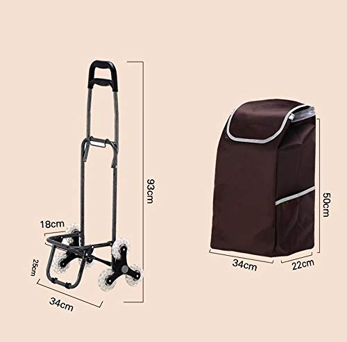 Zehaer Portable Trolley, Climb The Shopping cart, Stroller, Trolley cart, Folding/Home cart (Color:#03) (Color : #03) by Zehaer (Image #1)