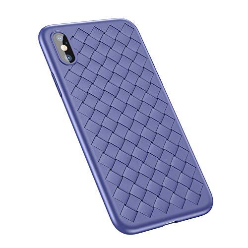 - Luxury Fashion Weave Pattern Phone Case for iphoneX Protective Frosted Soft TPU Cases for iPhone X 10,Blue,for iPhone X