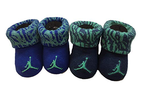 - Nike Infant Baby Futura Booties (2 Pair) (Camo Blue(LJ0104-U41)/Green, 0-6 Months)