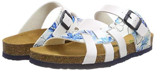 Dr 3 bleu Weiß Brinkmann Damen pantolette Weiß 701154 rwqvrxg4X