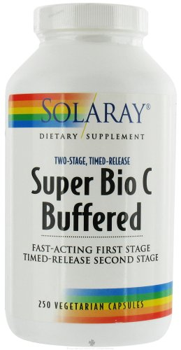 Solaray Super Bio C - Buffered 1000 mg By - 250 Vegetable Caps Vitamin (Buffered Vitamin C Capsules)