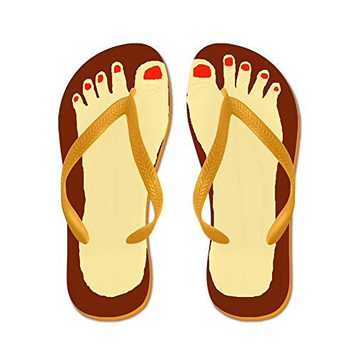 Sandals Thong Orange Sandals Flops Beach Ugly Cafepress Funny Feet Flip xUXHXRw8q