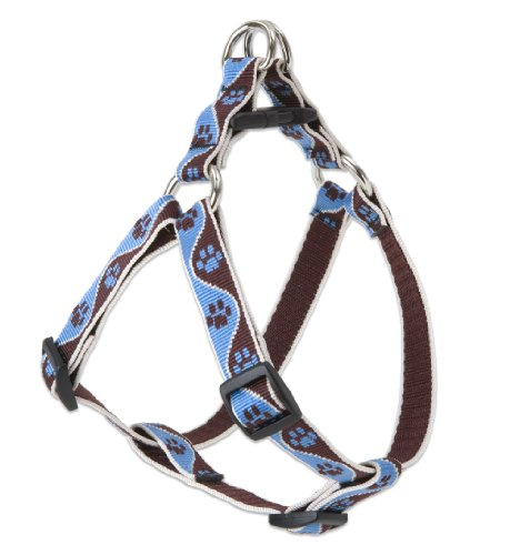 "LupinePet Originals 3/4"" Muddy Paws 20-30"" Step In Harness for Medium Dogs"
