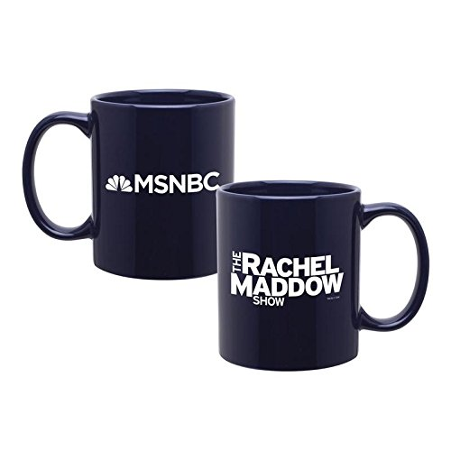The Rachel Maddow Show Logo Ceramic Mug, Blue 11 oz - Official Mug As Seen On ()