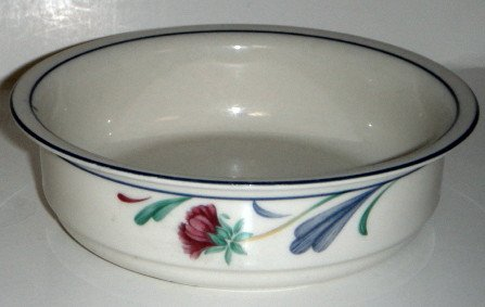 Poppies On Blue (For The Blue) Soup/Cereal Bowl (On Blue Dinnerware Poppies)