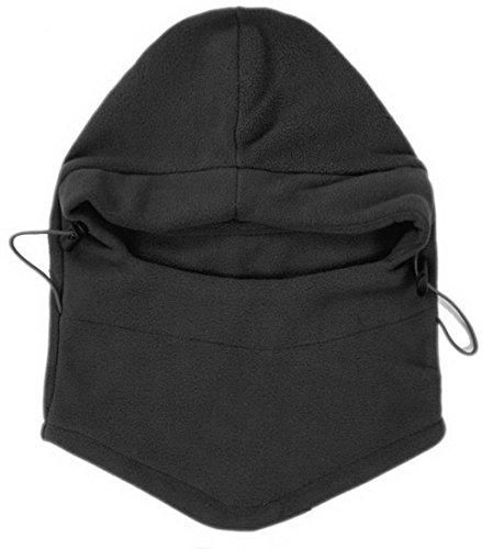 OneTigris Warm Fleece Balaclava Hood Face Cover Cap Neck Warmers Sport Mask (Black)
