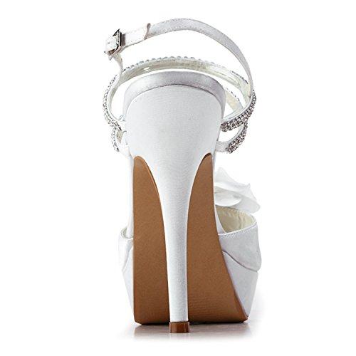 Minitoo , Damen Pumps White-10cm Heel