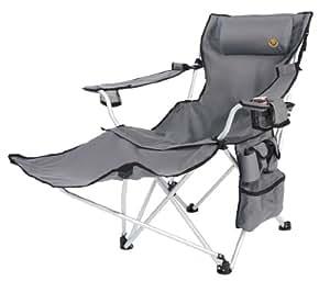 Grand Canyon Giga - Silla de camping plegable con apoyapiés, aluminio gris/negra