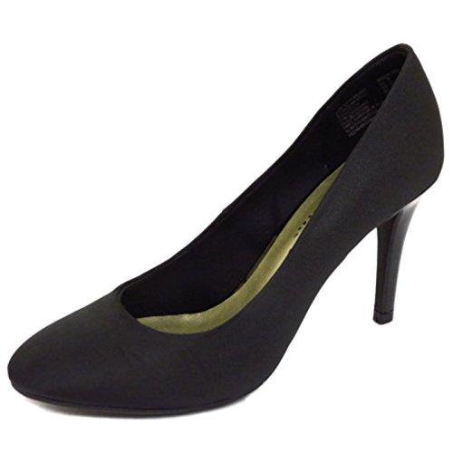 Damen schwarz zum reinschlüpfen niedrig Mittelhoher Absatz Arbeit Freizeit Hof Smart Schuhe Größen 3-9