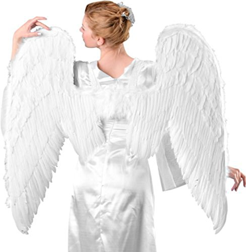 White Angel Wings Adult Angel Wings Feather Angel Wings Costume Angel (White Feathered Angel Wings)