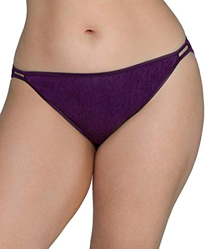 Vanity Fair Women's Illumination Plus Size Bikini Panty 18810, Sangria, 4X-Large/11