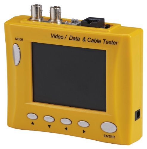 Cop Security 15-AU35MD Multi-Functional CCTV Tester with 3.5-Inch LCD and Signal Meter (Yellow)