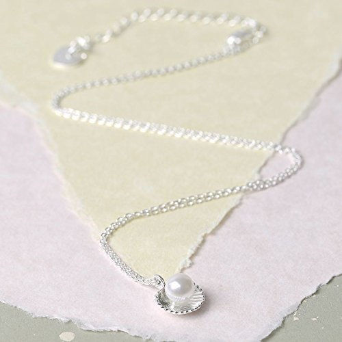 Silver 'Ariel' Pearl Shell Pendant Necklace