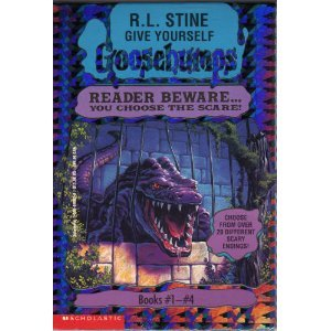 Give Yourself Goosebumps Boxed Set, Books 1 - 4:  Escape from the Carnival of Horrors; Tick Tock, You're Dead!; Trapped in Bat Wing Hall; and The Deadly Experiments of Dr. Eeek by Scholastic