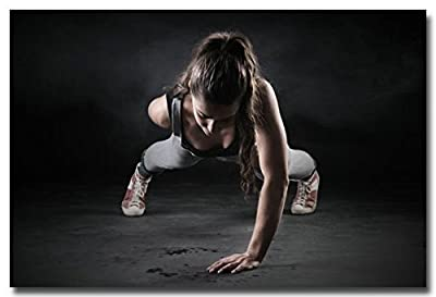 Tomorrow sunny Fitness Bodybuilding Silk Poster Print 24x36 Inches Gym Decor Pictures 052