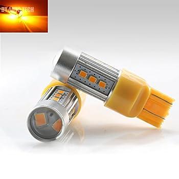 7443 Extreme High Power 2538 Chip LED Amber Yellow Turn Signal Brake Tail Lights Bulbs