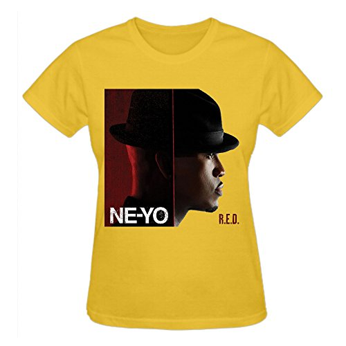 Abover Ne Yo Red Design Your Own T Shirts Women O-Neck Yellow
