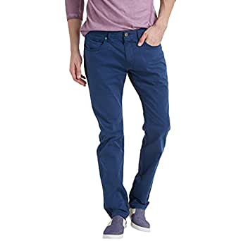 Breakbounce Blue Slim Fit Trousers Pant For Men