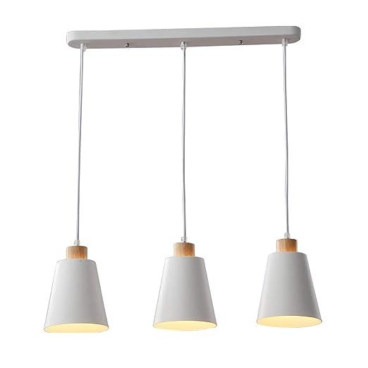 LED moderno Lámpara colgante de mesa de comedor Lámpara de ...