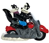 Westland Giftware Magnetic Ceramic Salt and Pepper Shaker Set, 3.75-Inch, Looney Tunes Pepe Le Pew and Penelope on Motorcycle, Set of 2